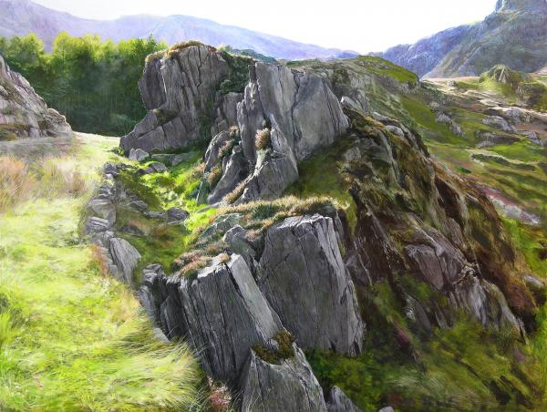 Outcrop In Snowdonia Painting  - Outcrop In Snowdonia Fine Art Print
