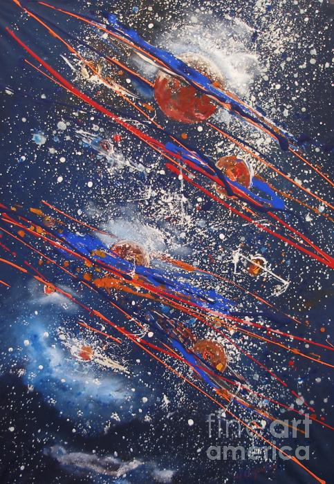 Outer Space Print by Miroslaw  Chelchowski