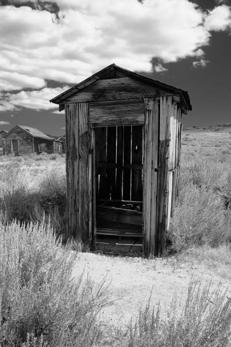 Outhouse In Ghost Town Print by George Oze