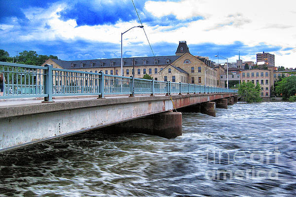 Over The Fox River Print by Shutter Happens Photography