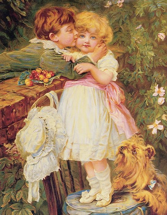 Over The Garden Wall Print by Frederick Morgan