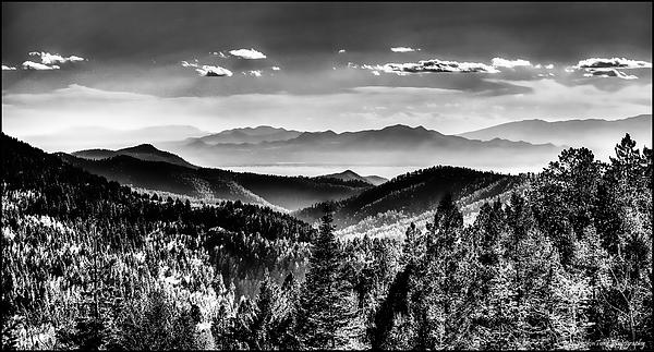 Overlooking The Southwest Print by Christopher Wieck