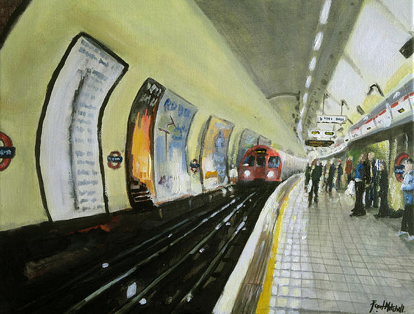 Oxford Circus Station Print by Paul Mitchell