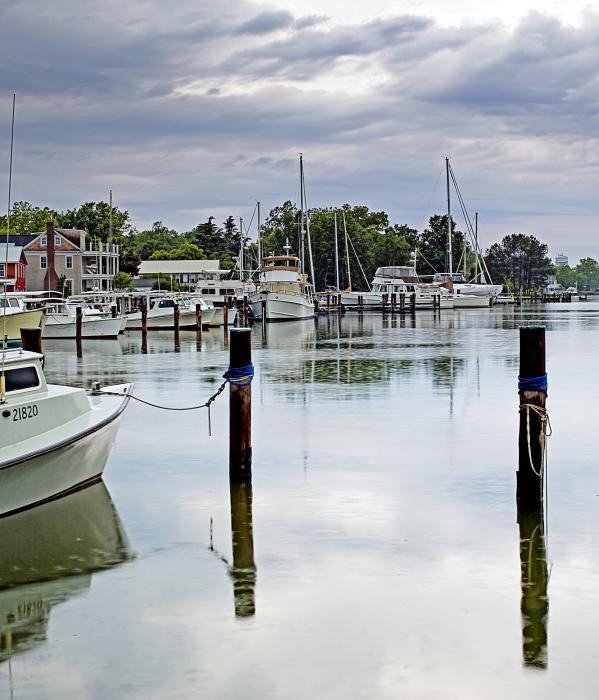 Oxford City Dock Eastern Shore Of Maryland Print by Brendan Reals