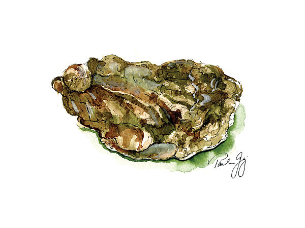 Oyster Print by Paul Gaj