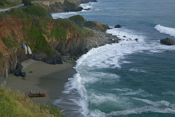Pacific Coast California Highway 1 Seascape Print by Gregory Scott