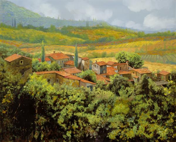 Paesaggio Toscano Print by Guido Borelli
