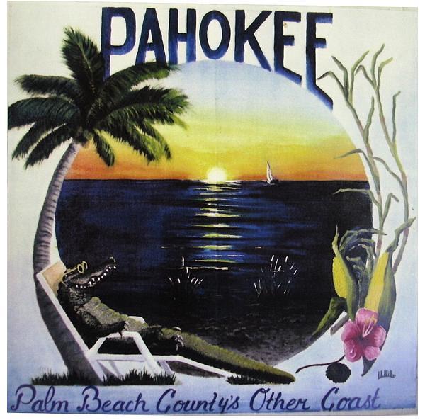 Pahokee Logo Print by Maria Mills