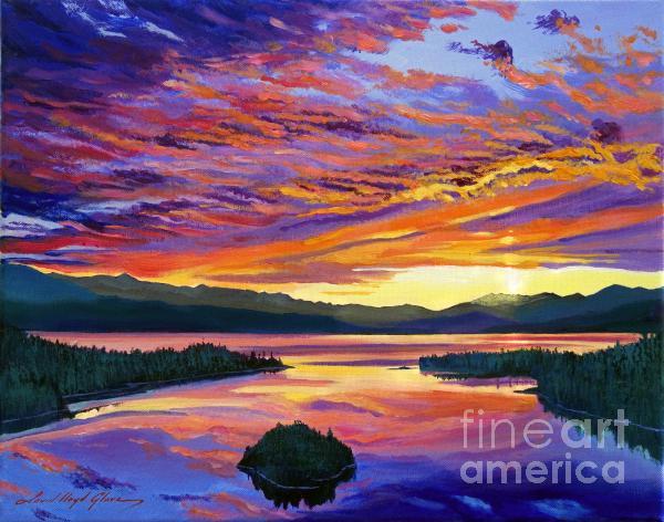 Paint Brush Sky Print by David Lloyd Glover