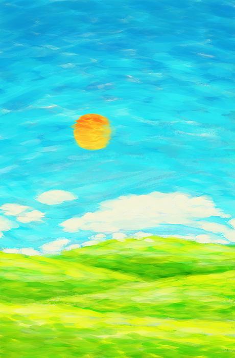 Painting Of Nature In Spring And Summer Print by Setsiri Silapasuwanchai