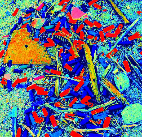 Painting With Debris Print by Randall Weidner