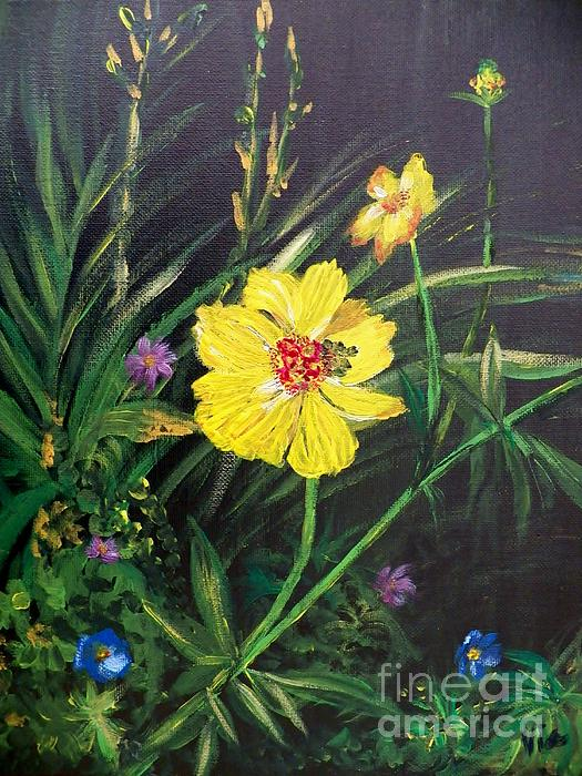 Judy Via-Wolff - Painting Yellow Cosmos