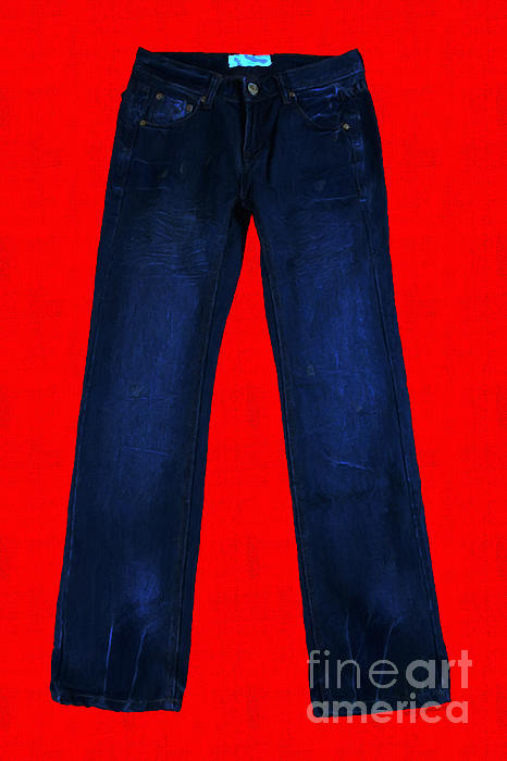 Pair Of Jeans 2 - Painterly Print by Wingsdomain Art and Photography