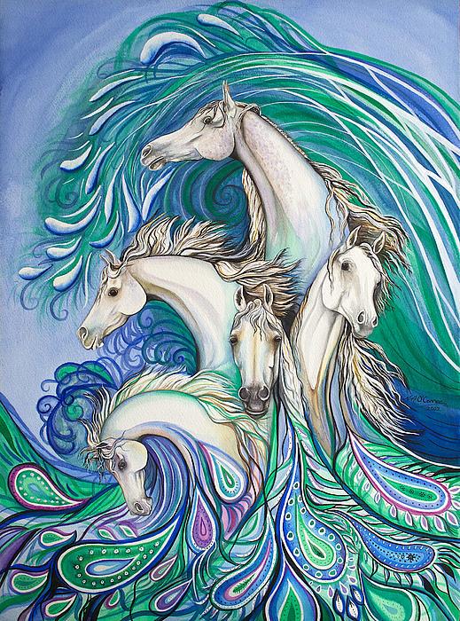 Nicole Ann OConnor - Paisley Sea Horses