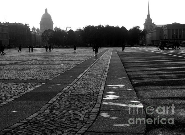 Palace Square In Saint Petersburg Print by Design Remix