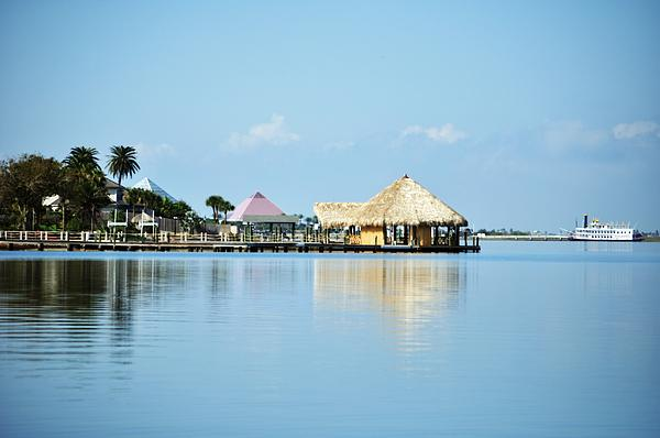 Palapa Over The Bayou Print by John Collins