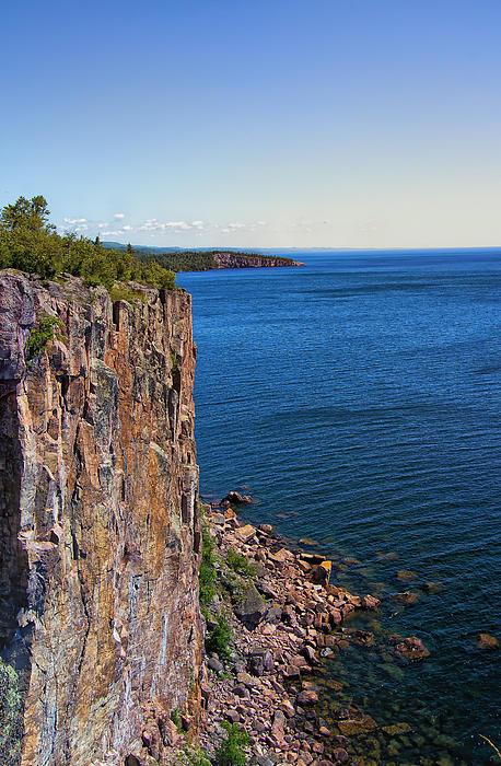 Palisade Head Cliffs Print by Bill Tiepelman