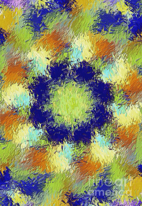 Pallet Of Colors Print by Deborah Benoit