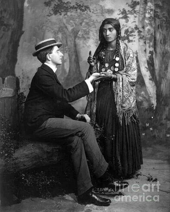 Palm-reading, C1910 Print by Granger