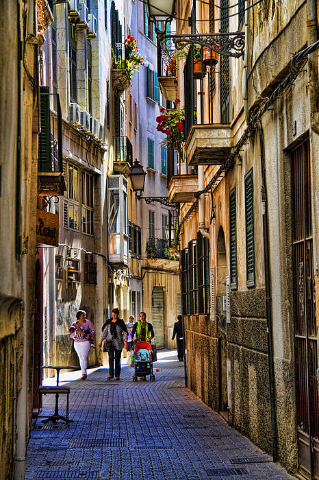 Palma Mallorca Street Scene Print by David Smith