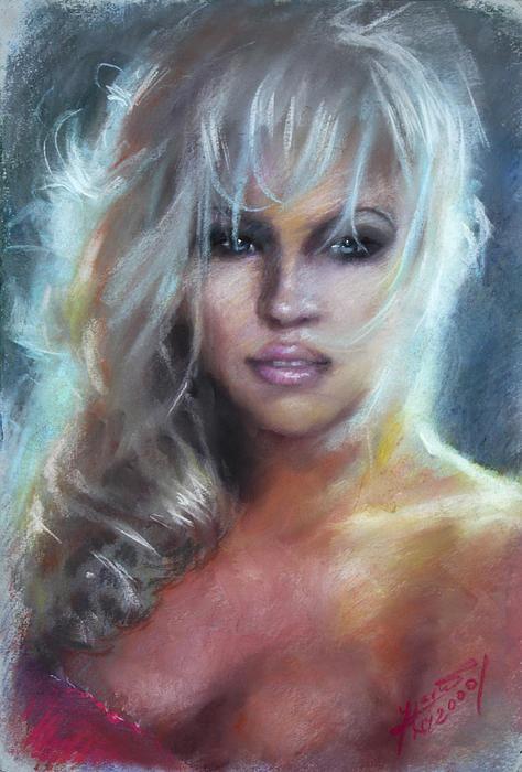 Pamela Anderson Print by Ylli Haruni