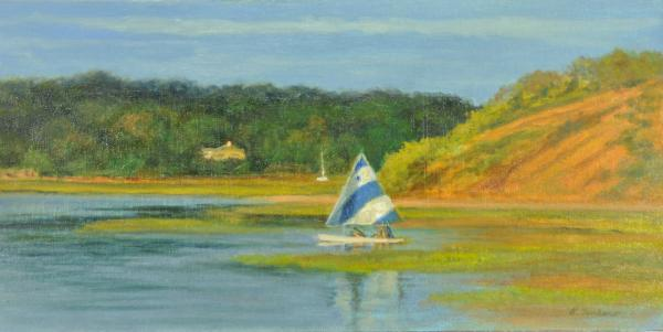 Pamet Harbor Early Evening Painting  - Pamet Harbor Early Evening Fine Art Print