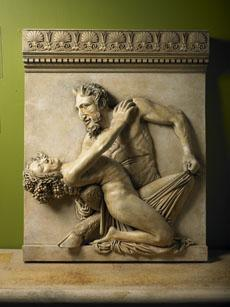 Pan And Maenad Wall Plaque Sculpture