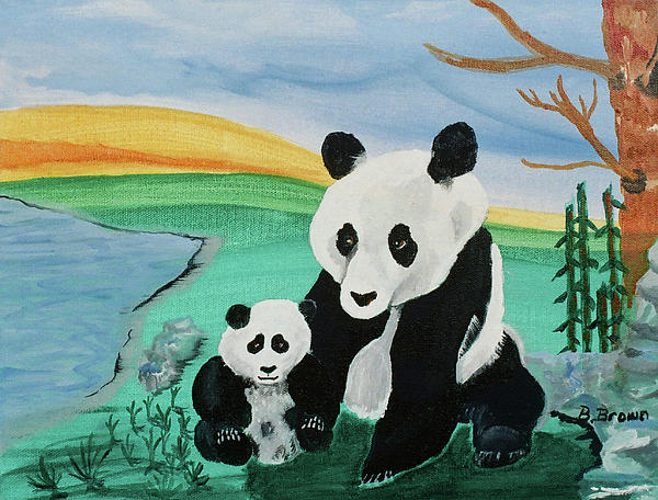 Burma Brown - Panda and Cub