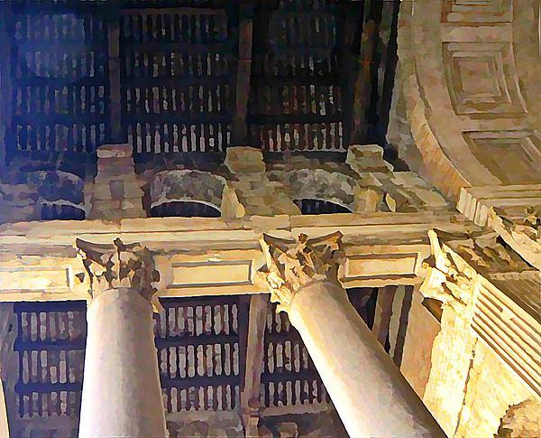 Pantheon Columns Print by Mindy Newman