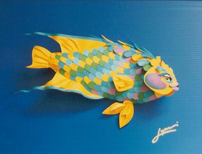 Paper Fish Sculpture