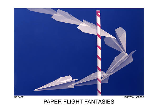 Paper Flight Fantasies - Air Race Print by Jerry Taliaferro