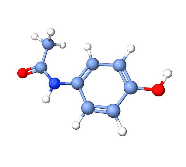Paracetamol Molecule Print by Dr Tim Evans