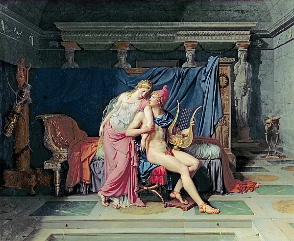 Paris And Helen Print by Jacques Louis David