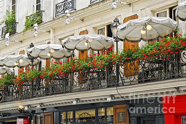 Paris Cafe Print by Elena Elisseeva