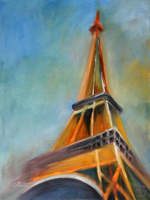 Paris Print by Jutta Maria Pusl