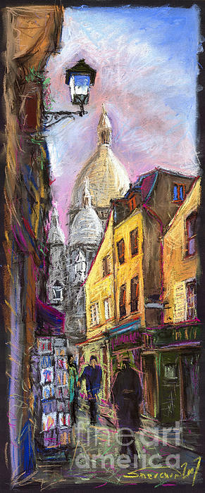 Paris Montmartre 2 Print by Yuriy  Shevchuk