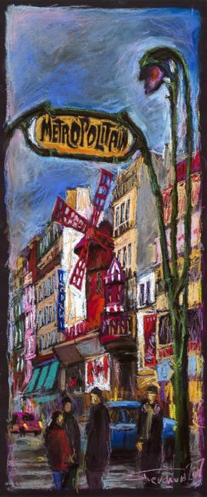 Paris Mulen Rouge Print by Yuriy  Shevchuk