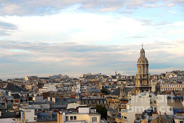 Paris Rooftops Print by Elena Elisseeva