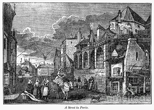Paris: Street, 1830s Print by Granger