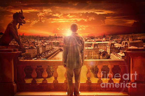 Paris Sunrise Print by Eugene James
