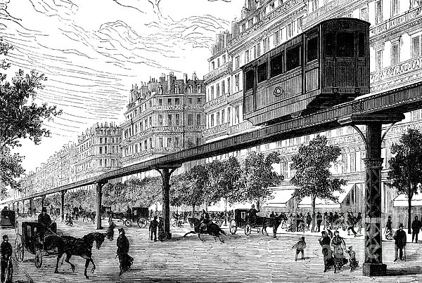 Paris: Tramway, 1880s Print by Granger