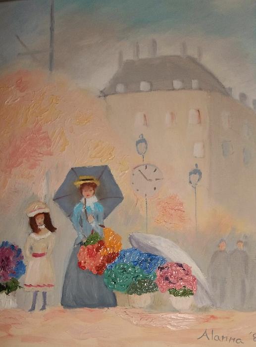 Paris  Yoli By Alanna Print by Alanna Hug-McAnnally