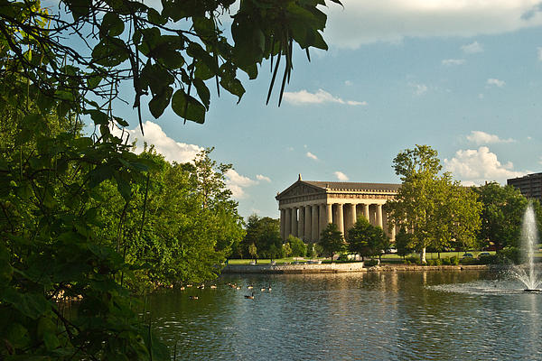 Parthenon At Nashville Tennessee 10 Print by Douglas Barnett