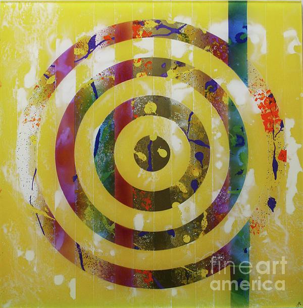Party- Bullseye 2 Print by Mordecai Colodner