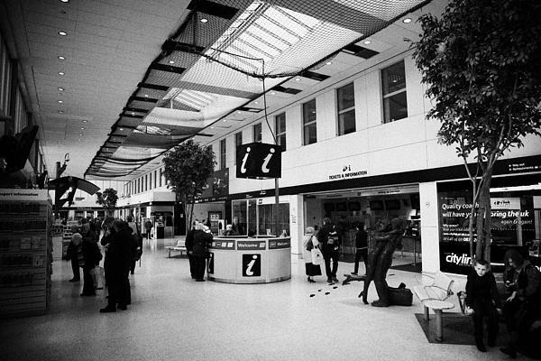 passenger concourse of Glasgow Buchanan street bus station Scotland UK Print by Joe Fox