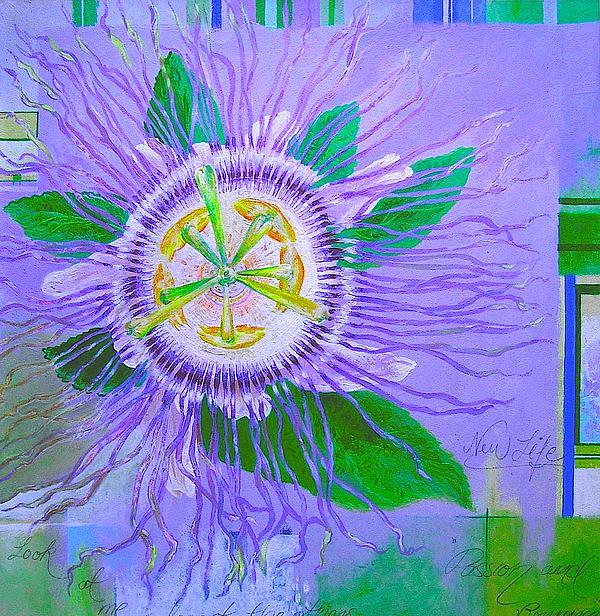 Graff Ananda -Artist - Passion Fruit Flower - Passion Flower - Graff Ananda -Fine Art Prints