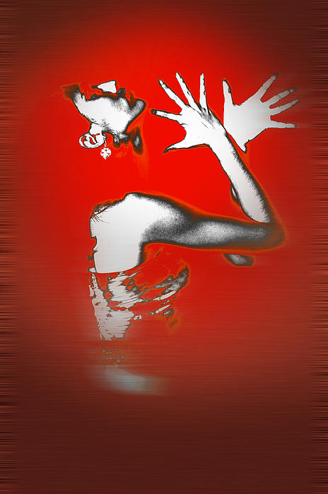 Passion In Red Print by Naxart Studio
