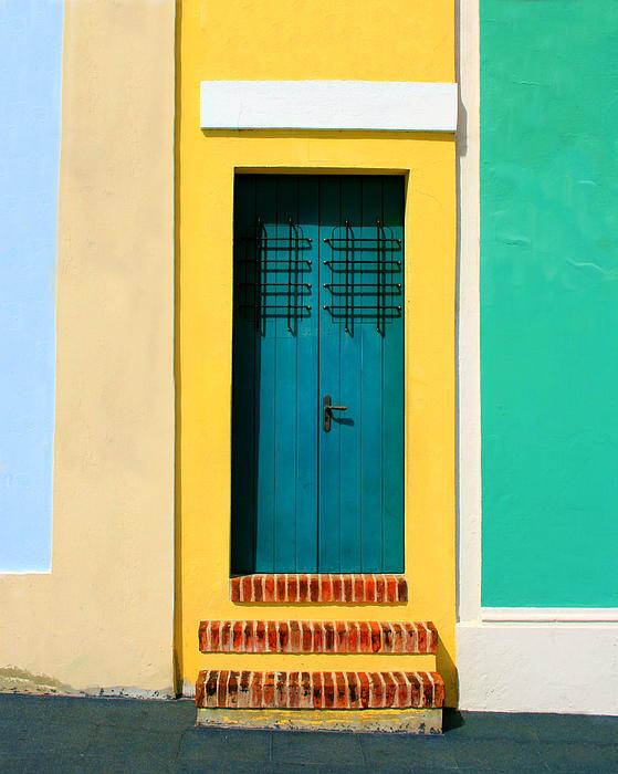 Pastel Doorway Print by Perry Webster