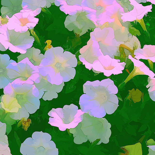 Pastel Flowers Print by Tom Prendergast