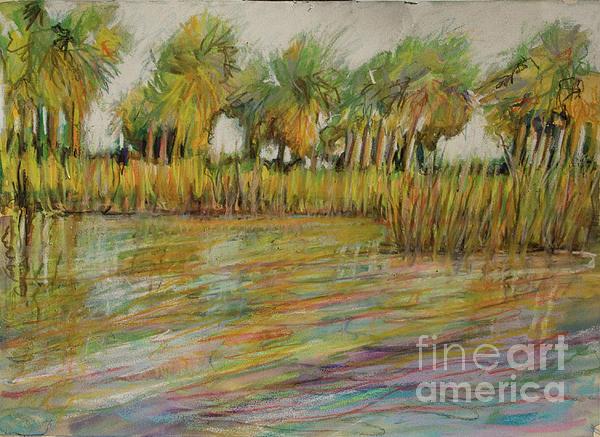 Pastel Palms Painting